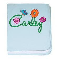 Carley Flowers baby blanket
