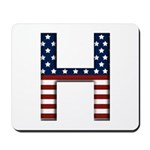 H Stars and Stripes Mousepad