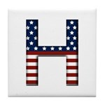 H Stars and Stripes Tile Coaster