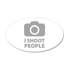 I Shoot People 38.5 x 24.5 Oval Wall Peel