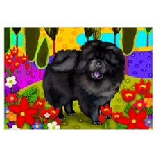BLACK CHOW CHOW DOG