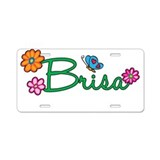 Brisa Flowers Aluminum License Plate