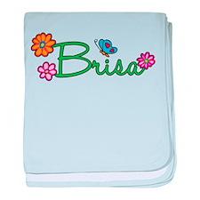 Brisa Flowers baby blanket