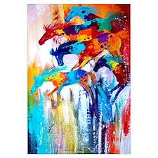 Color Riot Horses Art Print
