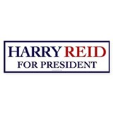 Harry Reid for President Bumper Car Sticker