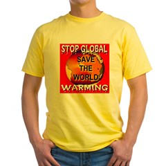Melting Polar Fonts Stop Glob Yellow T-Shirt
