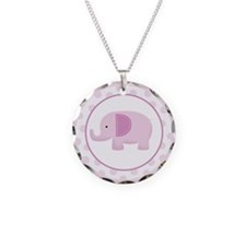 Pink Mod Elephant Necklace