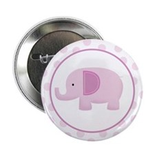 "Pink Mod Elephant 2.25"" Button (10 pack)"