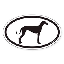 Greyhound Euro Oval Decal