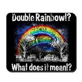 Double Rainbow, Worn Mousepad