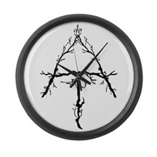 Appalachian Trail Twigs Large Wall Clock