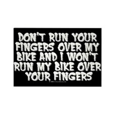 Fingers on Bike Rectangle Magnet