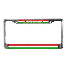 Hungary Hungarian Blank Flag License Plate Frame