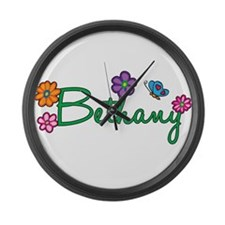 Bethany Flowers Large Wall Clock