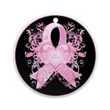 Pink Love Swirls Ornament (Round)