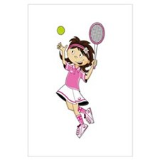 Cute Little Tennis Girl