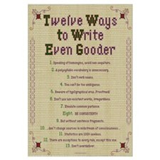 How to Write Even Gooder 16x20 ,Embroidery S