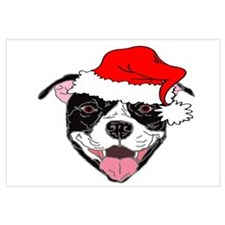 Cute Pitbull christmas Wall Art