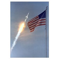 Apollo 11 Launch & Flag