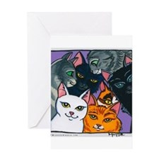 Kitty Cats Greeting Card