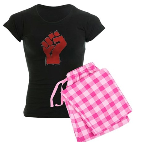 Raised Fist Women's Dark Pajamas