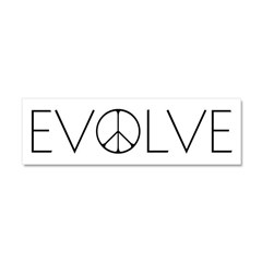 Evolve Peace Narrow Car Magnet 10 x 3