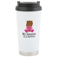 Breast Cancer Survivor Grammy Ceramic Travel Mug