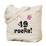 49th Birthday Butterfly Tote Bag