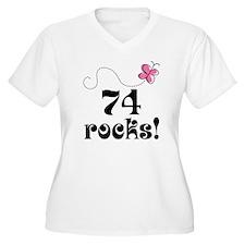 74th Birthday Butterfly T-Shirt
