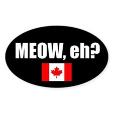 MEOW, eh? (Oval Sticker)