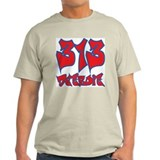 "Detroit ""Pistons Colors"" Ash Grey T-Shirt"