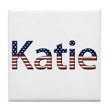 Katie Stars and Stripes Tile Coaster