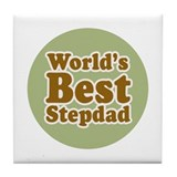 World's Best Stepdad Tile Coaster