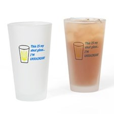Unique Tryzub Drinking Glass