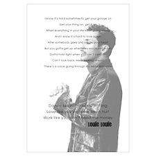 11x17 Print with Dance Love Work Lyrics
