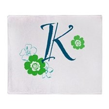 K Letter Throw Blanket