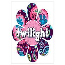 Twilight Retro Paisley Purple Flower