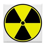 Radioactive Symbol Tile Coaster