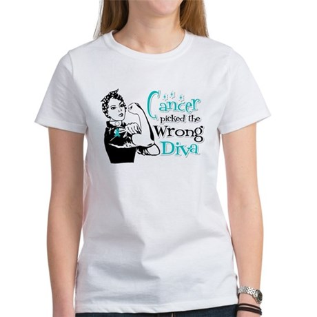 Wrong Diva Ovarian Cancer Women's T-Shirt