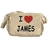 I heart James Messenger Bag