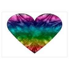 Tie-Dye Rainbow Heart