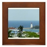 Bahamas Lighthouse Framed Tile