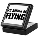 Rather Be Flying Keepsake Box