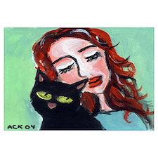 Black Cat w Redhead