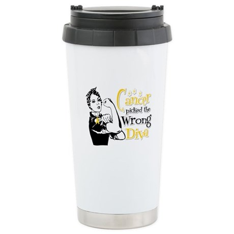 Wrong Diva Neuroblastoma Ceramic Travel Mug