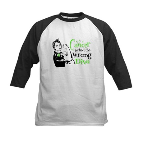 Wrong Diva Lymphoma Kids Baseball Jersey