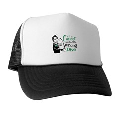 Wrong Diva Liver Cancer Trucker Hat