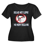 Read My Lips: No New Texans! Women's Plus Size Sco
