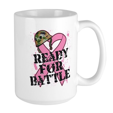 Ready For Battle BreastCancer Large Mug