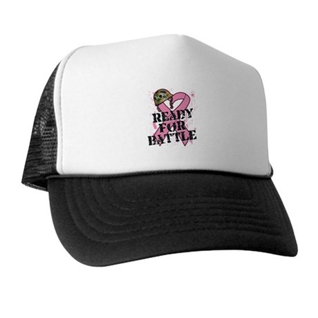 Ready For Battle BreastCancer Trucker Hat